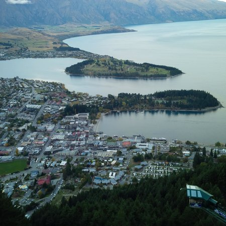 Pencarrow: Queenstown from atop the gondola