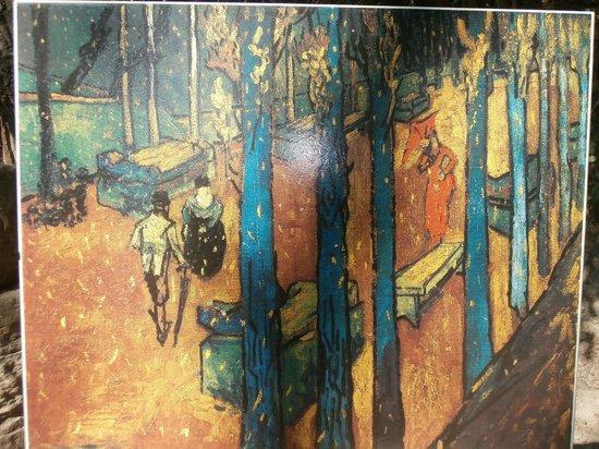 Les Alyscamps : Dipinto di Van Gogh