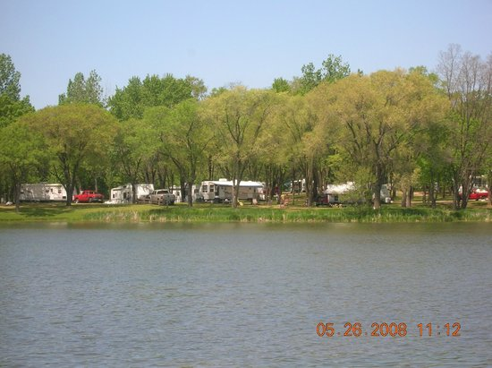 Indian Trails Campground: across the lake