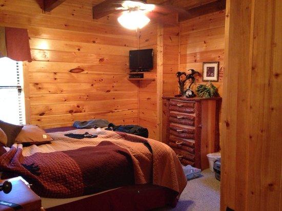 Elk Springs Resort: Downstair bedroom of Grin and Bear it