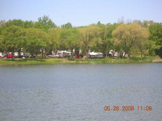 Indian Trails Campground: view across the lake