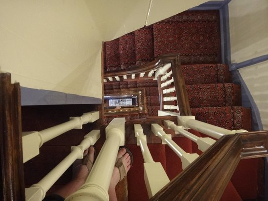 Thomas Bond House Bed & Breakfast : View down the 4 flights of stairs