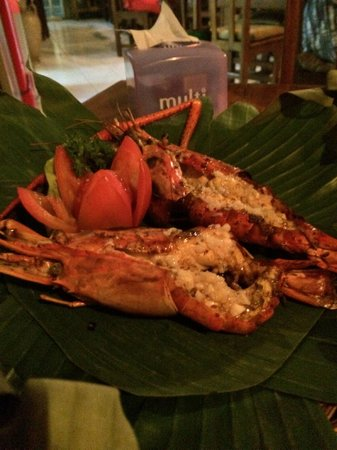 Warung Eny: $10 (~ Rp110,000) for 2 Giant Grilled Prawns