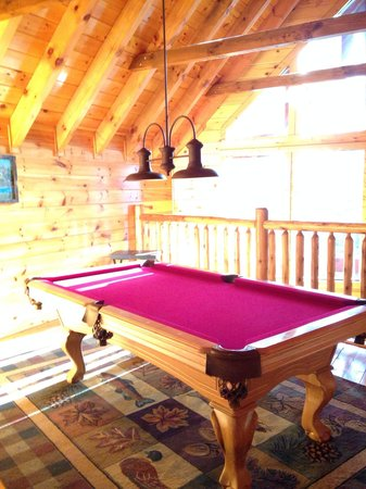 Elk Springs Resort: Pool table at Grin and Bear it. There are also couple table game sets.