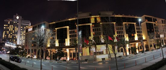 Grand Hyatt Istanbul: Front view at night