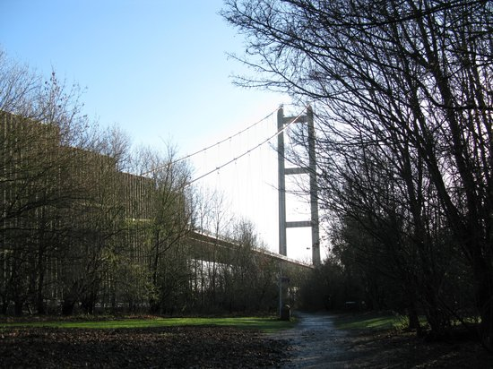 The Humber Bridge: Humber Bridge from the north.