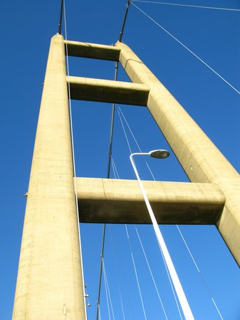 The Humber Bridge: One of the bridge towers.