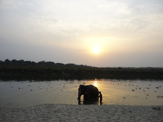 Rhino Lodge and Hotel: Sunset at the river