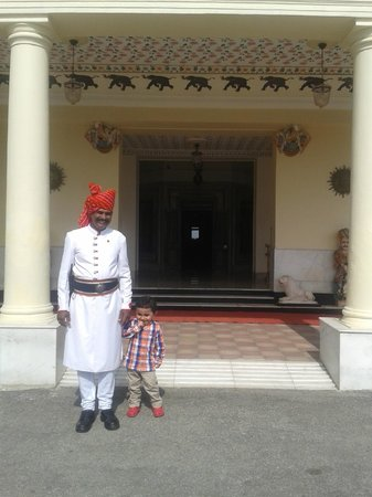 The Lalit Laxmi Vilas Palace Udaipur: with guard