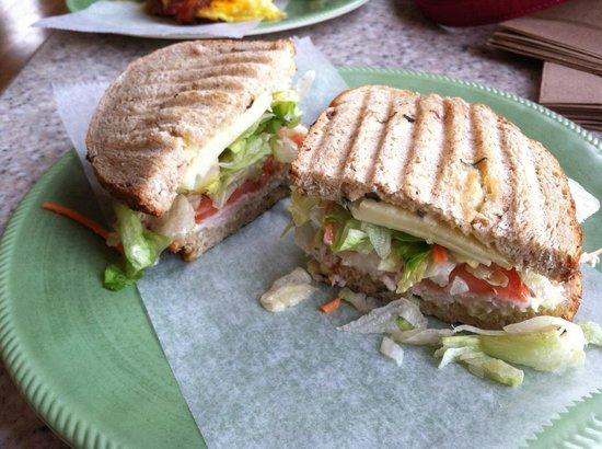 Edelweiss Bakery: Turkey, artichoke and spinach sandwich on 7 grain bread