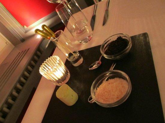 Grand Hotel National: Infused butter/ salt & pepper  at Restaurant National