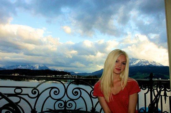 Grand Hotel National: Mt Pilatus behind me