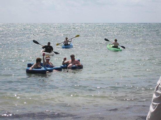 Maya Chan Beach : Floats and Kayak!  Great day!
