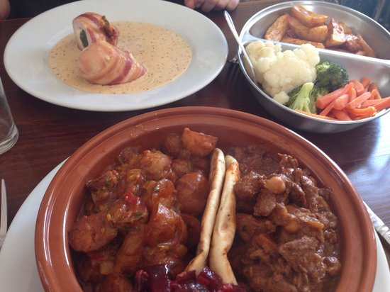 The Jolly Thresher : Lamb tagine and Chicken supreme. Delish!!!