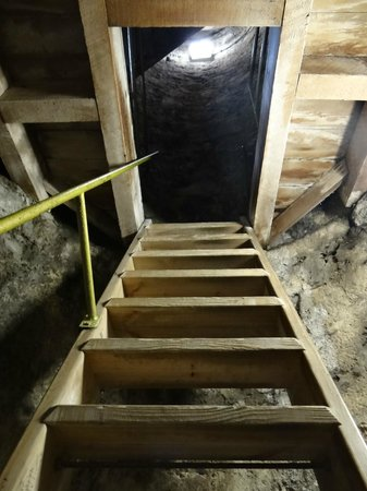 St. Canice's Cathedral & Round Tower : Round tower stairs; not straight up and down, and there is a railing