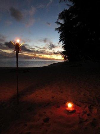 Little Polynesian Restaurant: What a setting for dinner