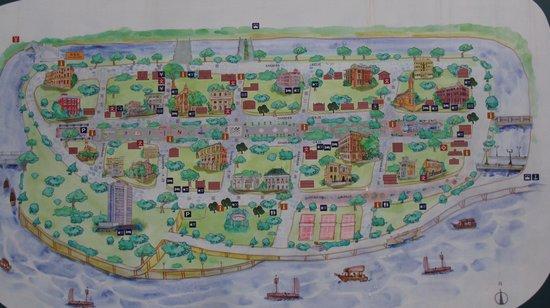 "Shamian Island: map of the ""island"""