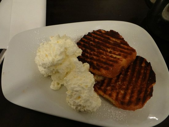 The Lazy Bean Cafe: Toasted muffin with whipped cream - best. thing. ever.