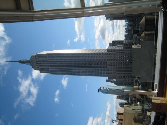 The Empire State building from Top of the Strand