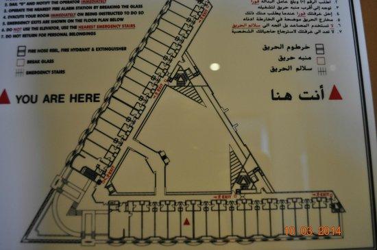 Mercure Grand Jebel Hafeet Al Ain: Plan piętra