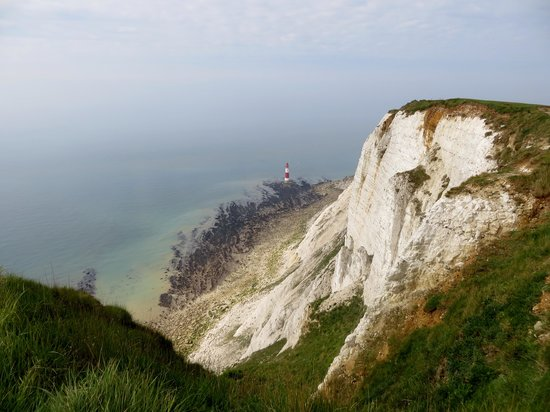 Beachy Head and lighthouse from east