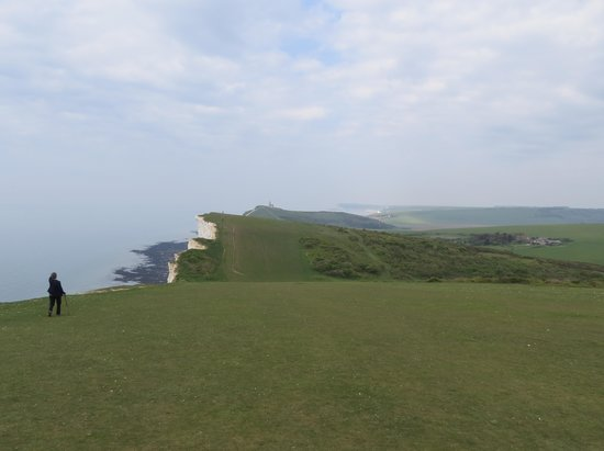Looking west from Beachy Head to the Seven Sisters