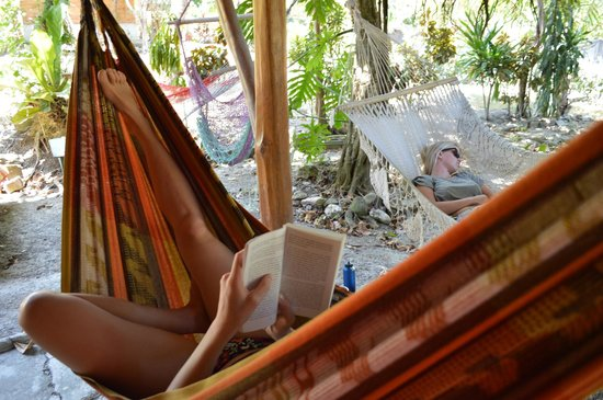 Tropical Pasta: Chilling in the hammocks!