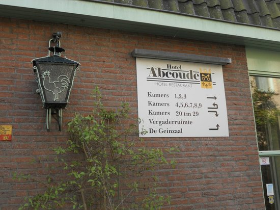 Hotel Abcoude: Il cartello d'entrata