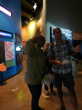 Maropeng Visitor Centre: Our amazing guide - so informative!