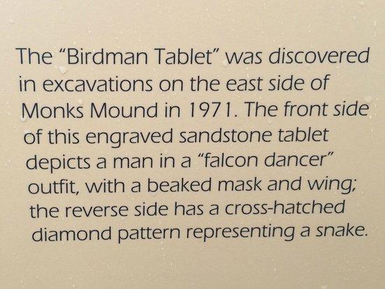 "Cahokia Mounds State Historic Site : ""Birdman"" Tablet Explained"