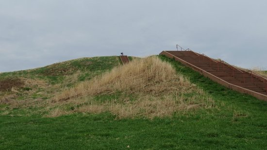 Cahokia Mounds State Historic Site : AG & RN Dots Atop Monk's Mound at Cahokia Mound State Historic Site