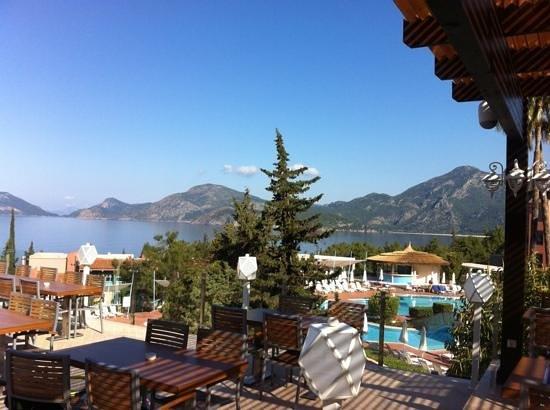 SENTIDO Lykia Resort & Spa: view from the restaurant terrace
