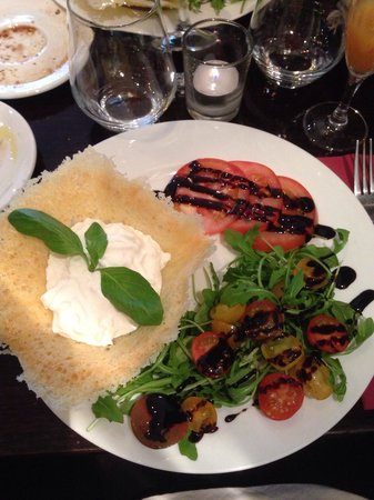 Bar Italia Brasserie : Fresh milk mozzarella with rocca salad  in balsamic and olive oil dressing - so delicious!