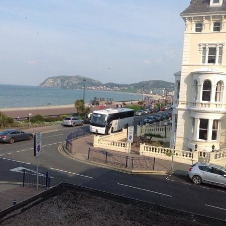 The Queens Hotel: view from my room