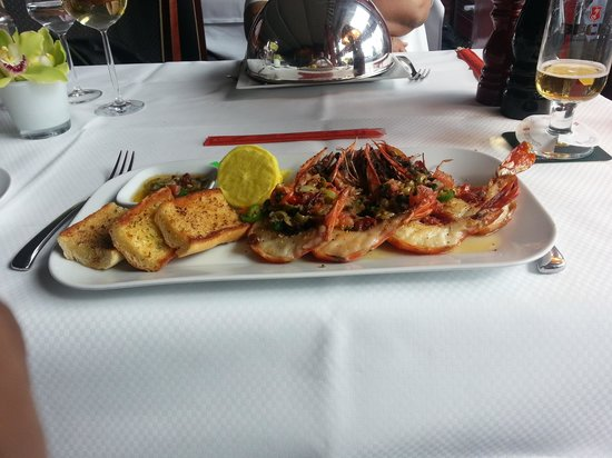 Fischereihafen-Restaurant: Grilled Black Tiger Prawns