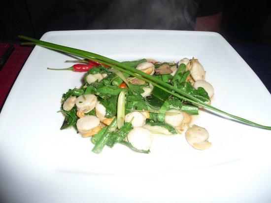 The Touich Restaurant Bar: Spicy scallops