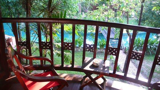 Angkor Village Resort: My balcony facing the circular swimming pool and the botanical garden