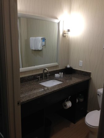 Fairfield Inn & Suites Houston North/Spring: Simple but clean bathroom