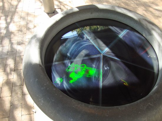 Charles M. Schulz Museum: Holograms can be viewed in the garden area