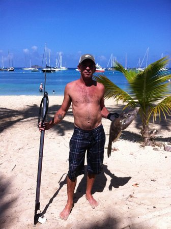 Virgin Islands Campground: Sean and his fish!