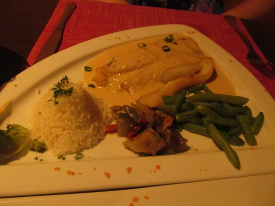 Rudy's: Parrot fish stuffed with crab