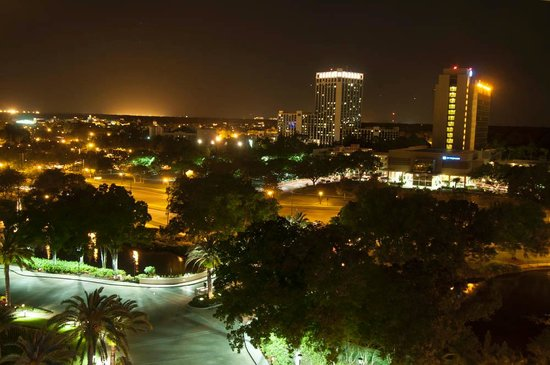 Hilton Orlando Lake Buena Vista - Disney Springs™ Area: Night view from room on 10th floor