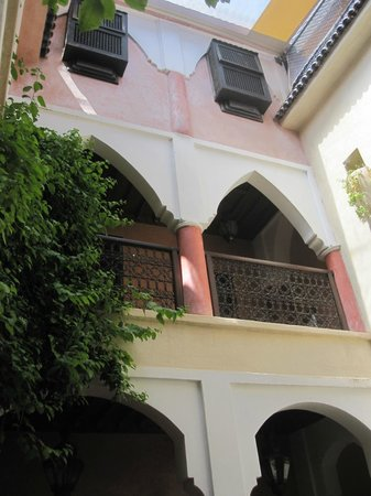 Riad Plein Sud: View from courtyard