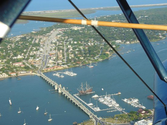 St. Augustine Biplane Rides: Bridge of Lions