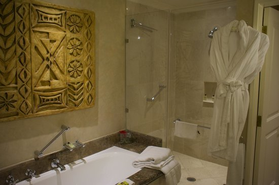 InterContinental Johannesburg OR Tambo Airport: tub and shower
