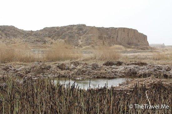 Lingwu, Kina: 水洞溝風景