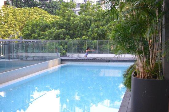 Studio M Hotel : Lap Pool with Spa pool at the end