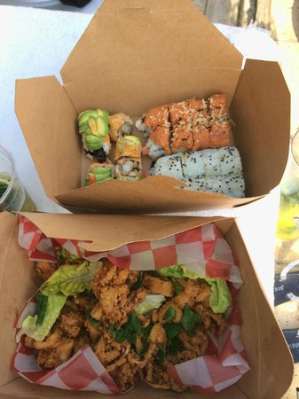 Catalina Hotel & Beach Club: food from the asian cuisine