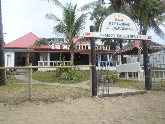 Phaidon Beach Resort: The main building where you have meals