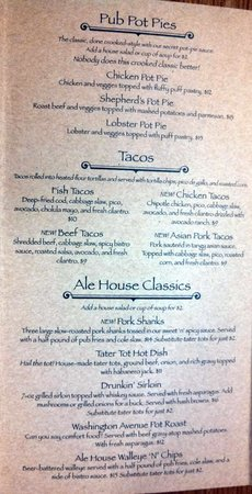 Crooked Pint Ale House: Menu page 2